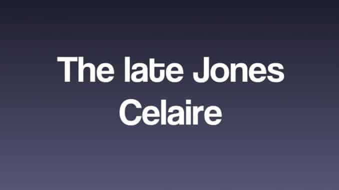 The late Jones Celaire