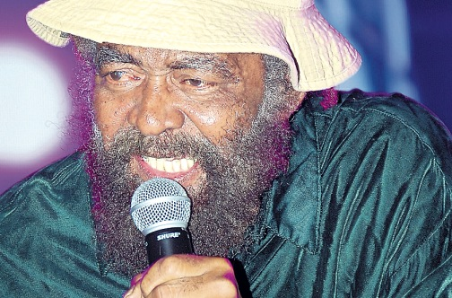 Singer John Holt in performance at the Jamaica Jazz Festival in Montego Bay in 2012