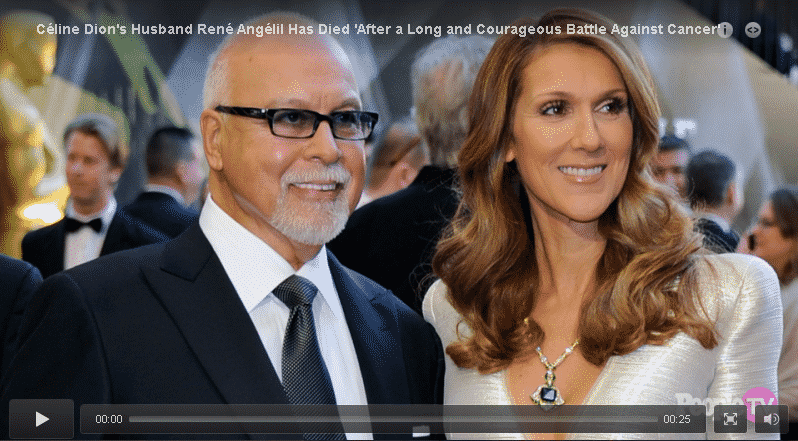 Céline Dion's Husband René Angélil Has Died 'After a Long and Courageous Battle Against Cancer' 7