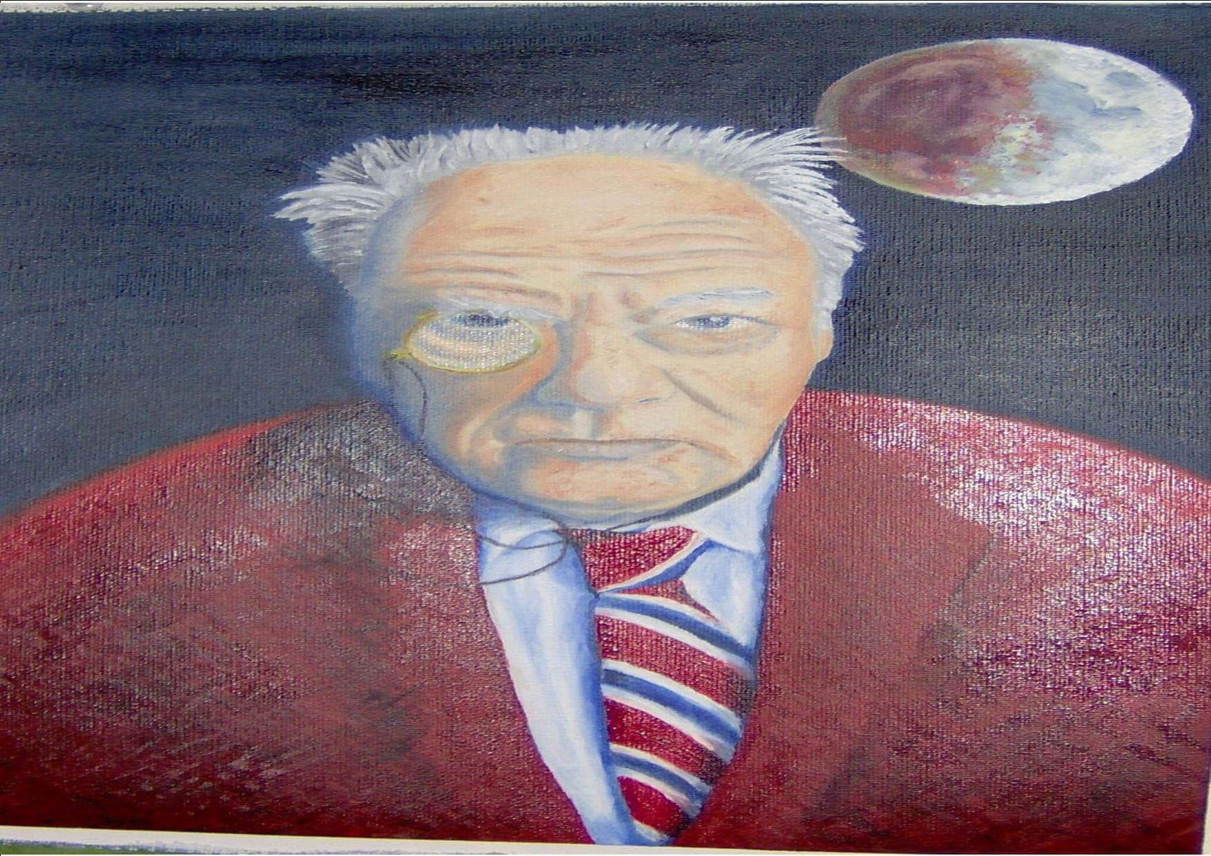 Tribute to Sir Patrick Moore who died today. 14