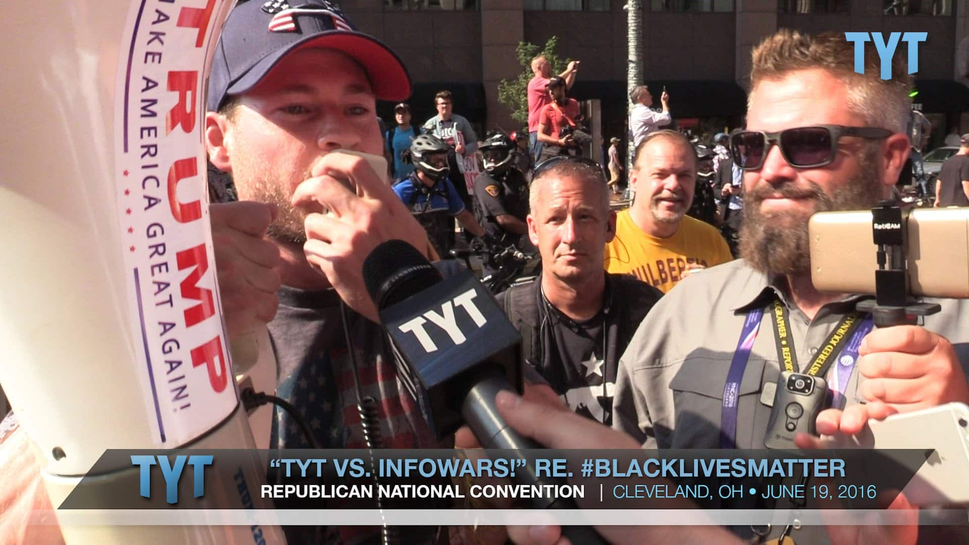 TYT vs. InfoWars re. #BlackLivesMatter At RNC Convention 35