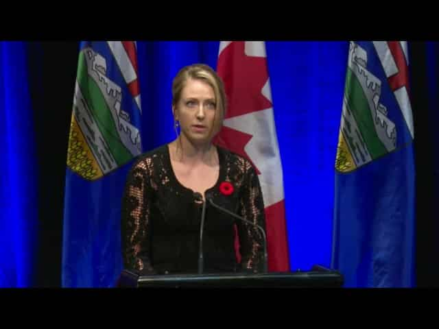 Cassia Prentice speaks at her father's state memorial service 26