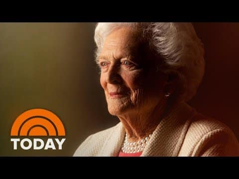 Former First Lady Barbara Bush Has Died At Age 92; Tributes Pour In | TODAY 4