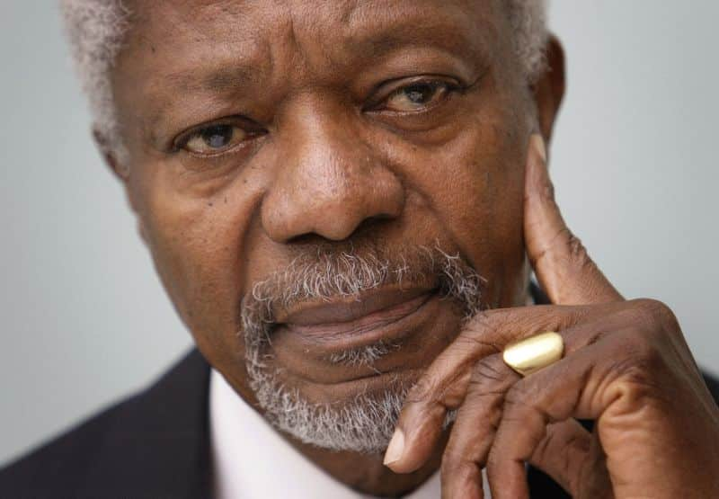United Nations Former secretary-general Kofi Annan died today at 80. 1