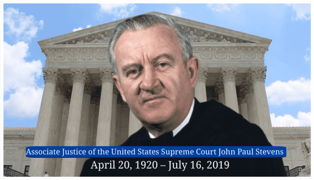 John Paul Stevens Associate Justice of the United States Supreme Court