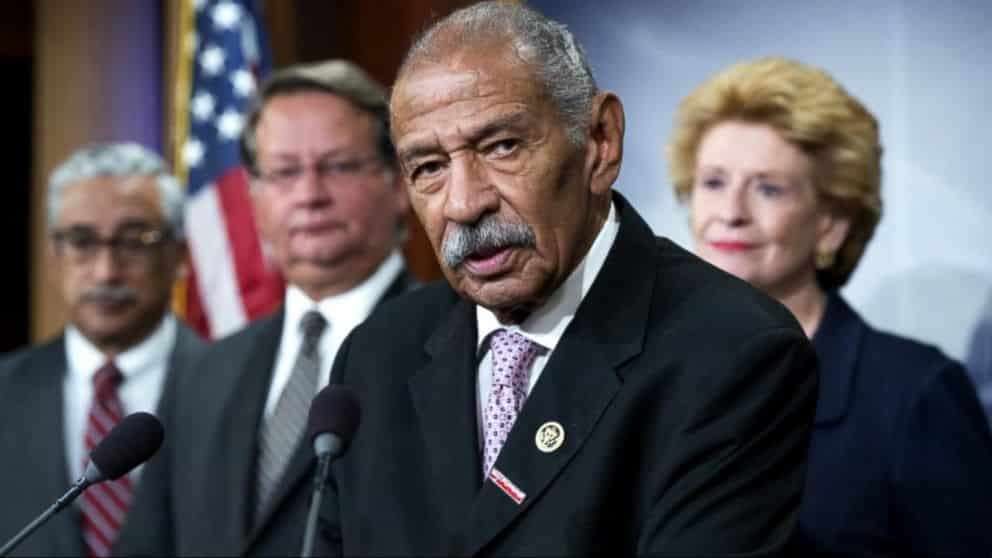 John Conyers Jr., a Korean War veteran who was the longest serving African-American member of Congress in U.S. history, died Sunday at age 90, Detroit police have confirmed.