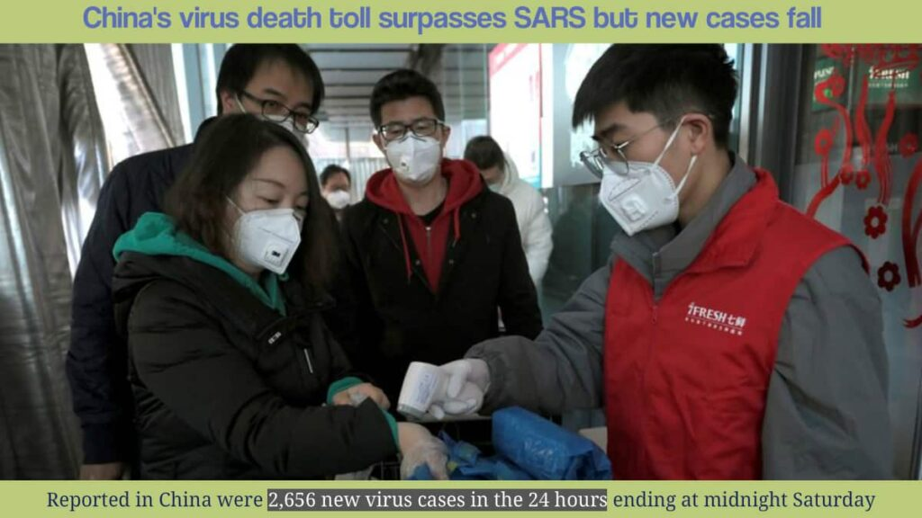 2,656 new virus cases in the 24 hours