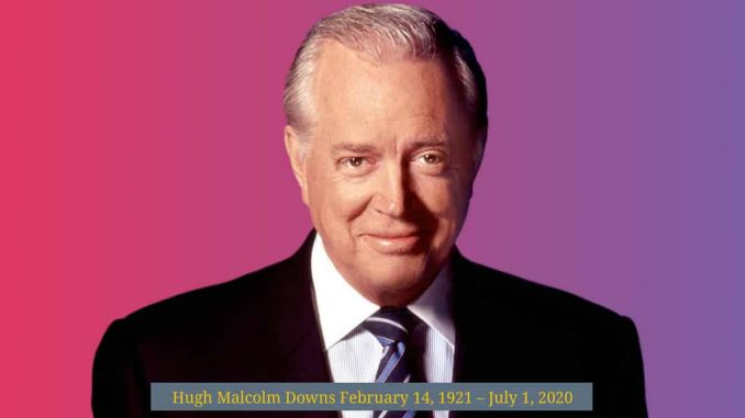 Hugh Downs American broadcaster, television host, news anchor, TV producer dead at 99 1