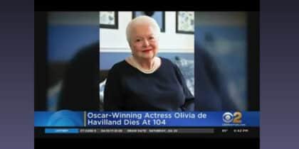 Olivia De Havilland died at 104 on sunday