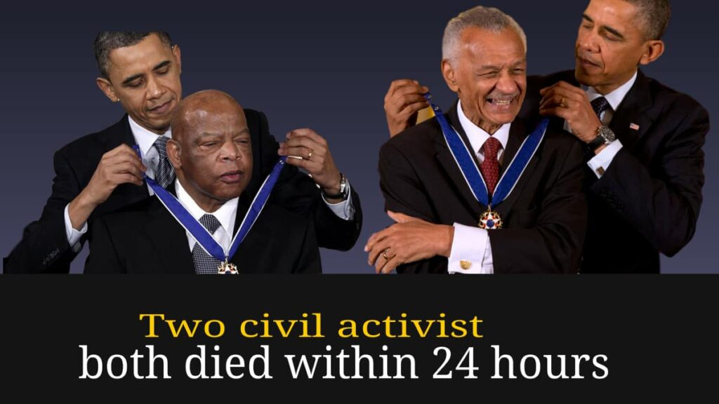 Two civil rights activist died within 24 hours CT Vivian and John Lewis