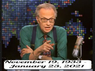 The veteran television show host Larry King died at 87
