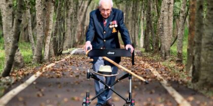 Captain Sir Tom Moore, who raised millions for the NHS, is dead at 100