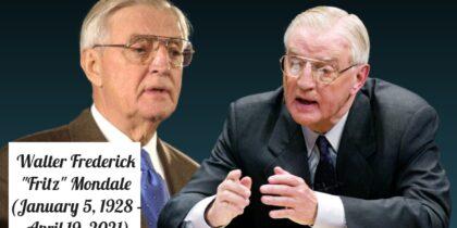 Former U.S. Vice President Walter Mondale, under President Jimmy Carter dead 93